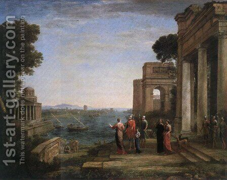 Aeneas and Dido in Carthage 1675 by Claude Lorrain (Gellee) - Reproduction Oil Painting