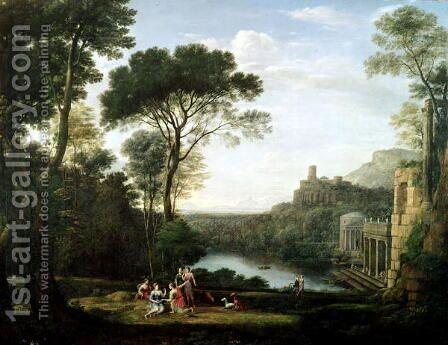 Landscape with the Nymph Egeria by Claude Lorrain (Gellee) - Reproduction Oil Painting