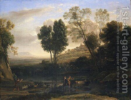 Sunrise possibly 1646 by Claude Lorrain (Gellee) - Reproduction Oil Painting