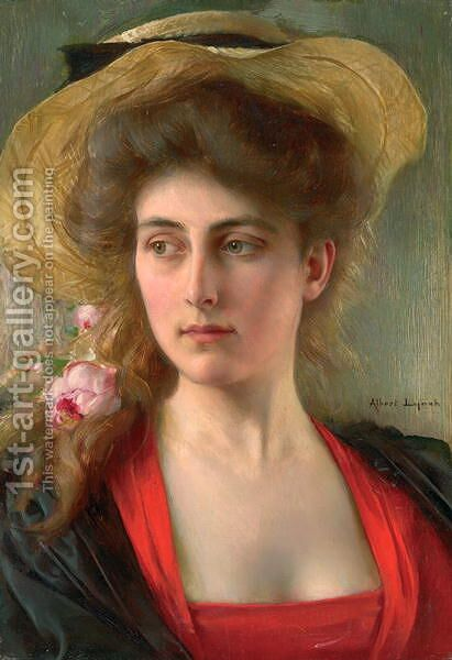 Elegante by Albert Lynch - Reproduction Oil Painting