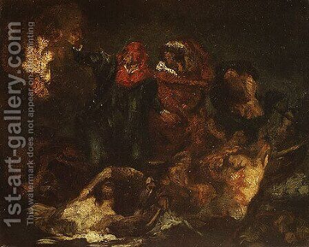 Copy after Delacroix's Bark of Dante ca. 1859 by Edouard Manet - Reproduction Oil Painting