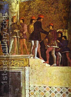 The Gonzaga Family And Retinue Detail 3 1465-74 by Andrea Mantegna - Reproduction Oil Painting