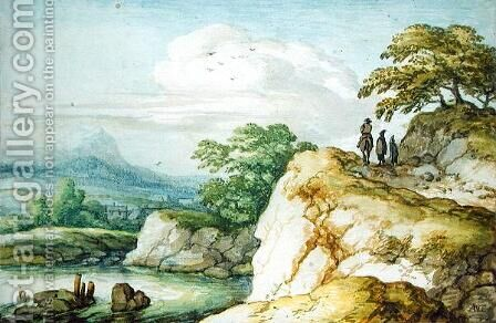 Hikers in the Highlands 1655 by Allaert van Everdingen - Reproduction Oil Painting