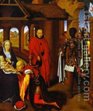 The Adoration Of The Magi Detail 2 1470s by Hans Memling - Reproduction Oil Painting