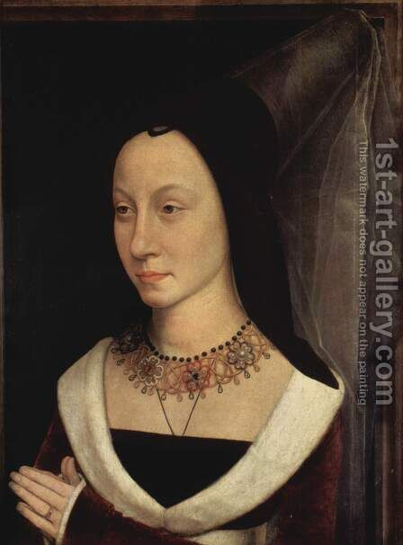 Tommaso Portinari And His Wife Part Of Diptych 2 1470 by Hans Memling - Reproduction Oil Painting
