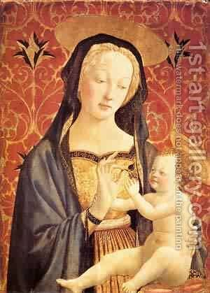 Madonna And Child 1435-37 2 by Domenico Di Michelino - Reproduction Oil Painting