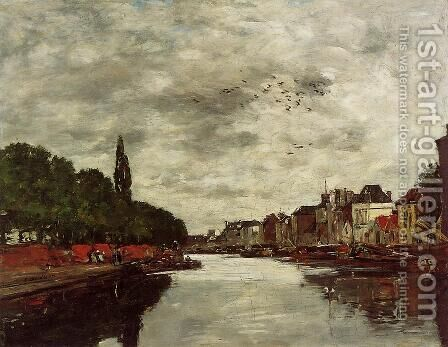 A Canal near Brussels 1871 by Claude Oscar Monet - Reproduction Oil Painting