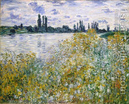 Ee aux Fleurs near Veheuil 1880 by Claude Oscar Monet - Reproduction Oil Painting