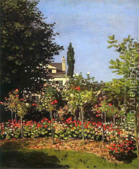 Garden in Flower 1866 by Claude Oscar Monet - Reproduction Oil Painting