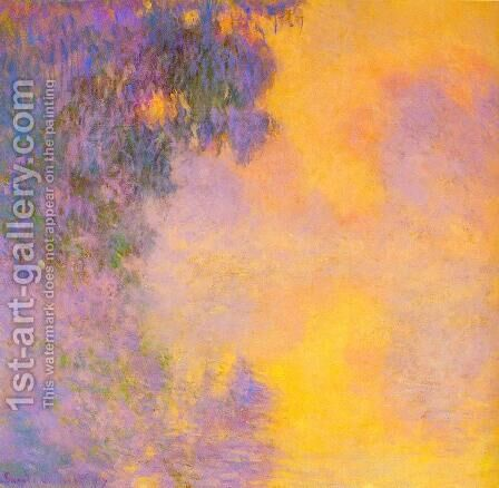 Misty morning on the seine sunrise 1892 by Claude Oscar Monet - Reproduction Oil Painting