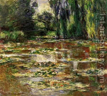 The Bridge over the Water-Lily Pond 1905 by Claude Oscar Monet - Reproduction Oil Painting