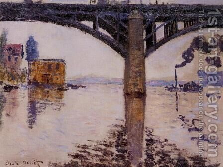 The Road Bridge at Argenteuil1 1874 by Claude Oscar Monet - Reproduction Oil Painting