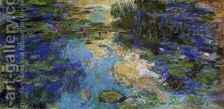 The Water-Lily Pond 1917-1919 by Claude Oscar Monet - Reproduction Oil Painting