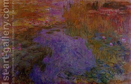 The Water-Lily Pond2 1917-1919 by Claude Oscar Monet - Reproduction Oil Painting