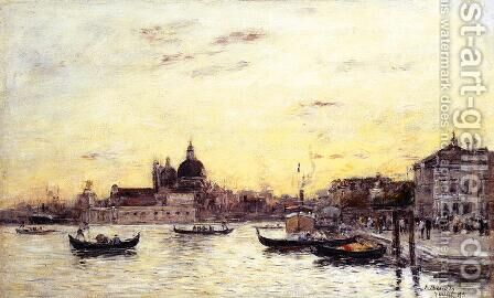 Venice The Mole at the Entrance to the Grand Canal and the Salute 1895 by Claude Oscar Monet - Reproduction Oil Painting