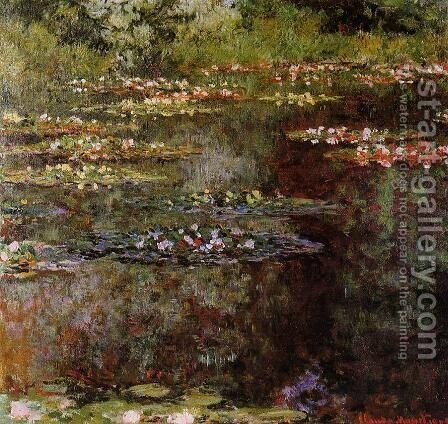 Water-Lilies1 1904 by Claude Oscar Monet - Reproduction Oil Painting