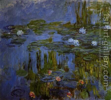Water-Lilies1 1914-1917 by Claude Oscar Monet - Reproduction Oil Painting