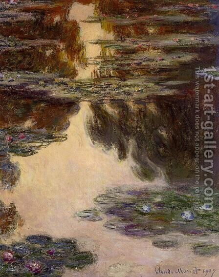 Water-Lilies10 1907 by Claude Oscar Monet - Reproduction Oil Painting