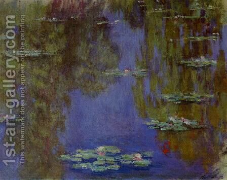 Water-Lilies2 1903 by Claude Oscar Monet - Reproduction Oil Painting