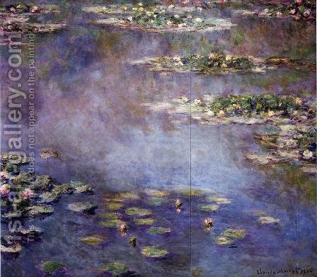 Water-Lilies2 1906 by Claude Oscar Monet - Reproduction Oil Painting