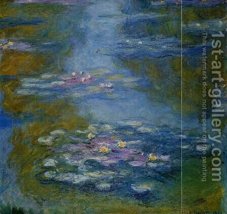 Water-Lilies2 1908 by Claude Oscar Monet - Reproduction Oil Painting