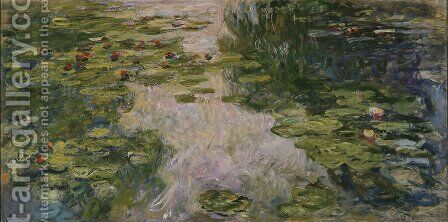 Water-Lilies2 1917-1919 by Claude Oscar Monet - Reproduction Oil Painting