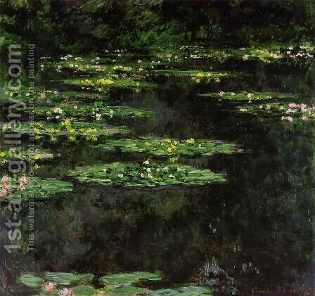 Water-Lilies3 1904 by Claude Oscar Monet - Reproduction Oil Painting