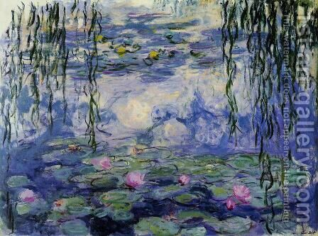 Water-Lilies3 1916-1919 by Claude Oscar Monet - Reproduction Oil Painting