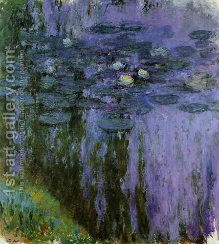 Water-Lilies5 1916-1919 by Claude Oscar Monet - Reproduction Oil Painting