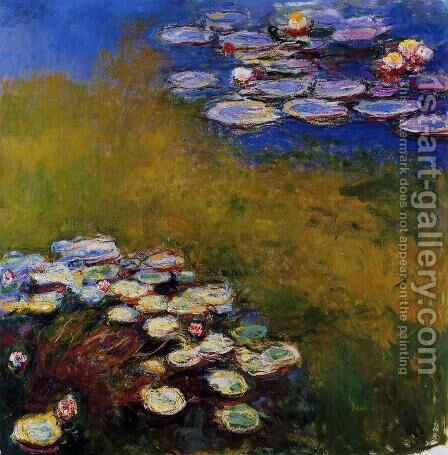 Water-Lilies6 1914-1917 by Claude Oscar Monet - Reproduction Oil Painting