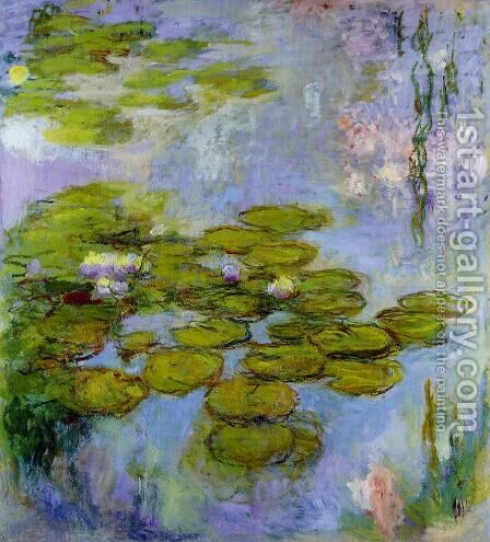 Water-Lilies6 1916-1919 by Claude Oscar Monet - Reproduction Oil Painting