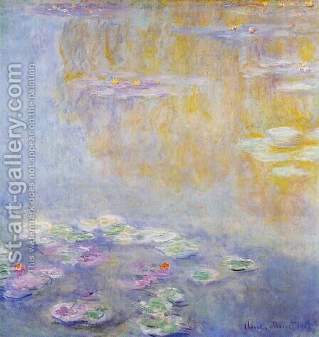 Water-Lilies7 1908 by Claude Oscar Monet - Reproduction Oil Painting