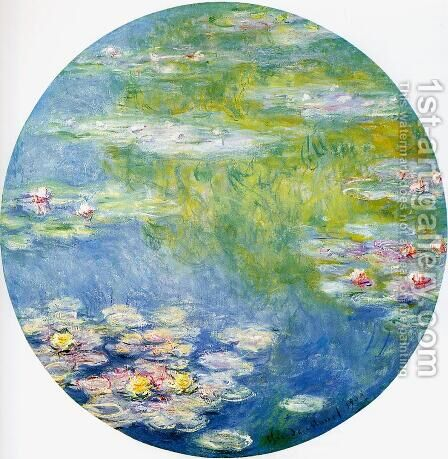 Water-Lilies8 1908 by Claude Oscar Monet - Reproduction Oil Painting