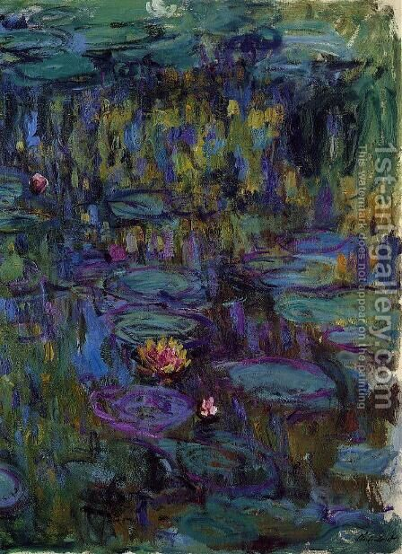 Water-Lilies8 1914-1917 by Claude Oscar Monet - Reproduction Oil Painting