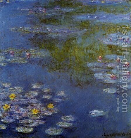 Water-Lilies9 1908 by Claude Oscar Monet - Reproduction Oil Painting