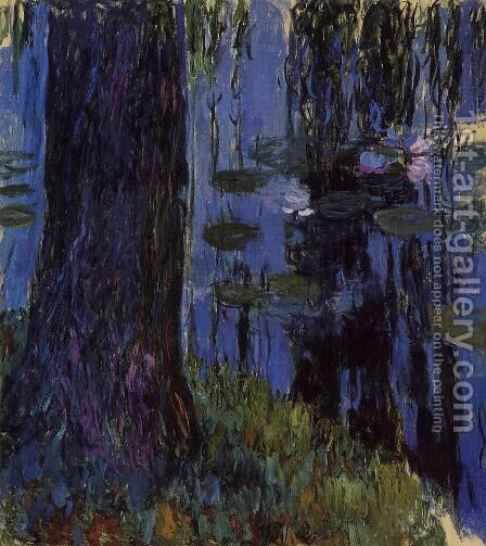 Weeping Willow and Water-Lily Pond1 1916-1919 by Claude Oscar Monet - Reproduction Oil Painting