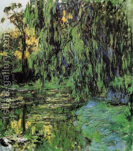 Weeping Willow and Water-Lily Pond2 1916-1919 by Claude Oscar Monet - Reproduction Oil Painting