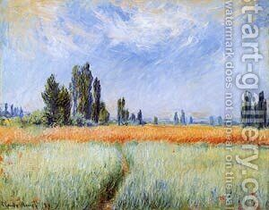 Wheatfields by Claude Oscar Monet - Reproduction Oil Painting