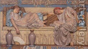 Beads 1875 by Albert Joseph Moore - Reproduction Oil Painting