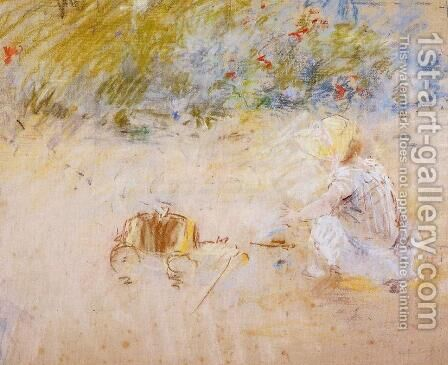 Child Playing in the Garden 1882 by Berthe Morisot - Reproduction Oil Painting