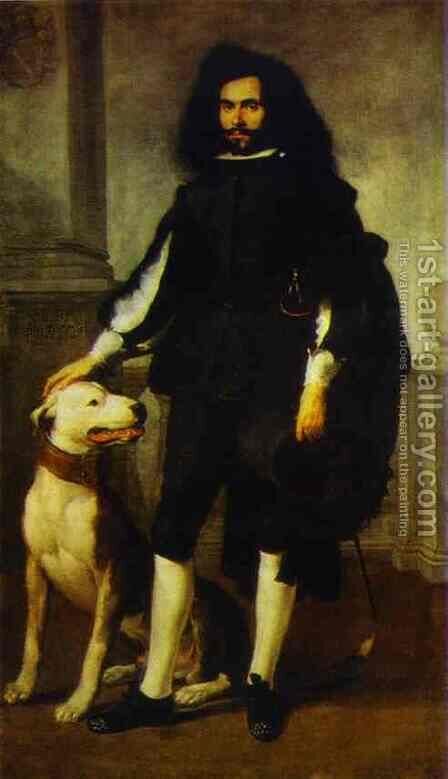 Portrait Of Andres De Andrade I La Col 1656-1660 by Bartolome Esteban Murillo - Reproduction Oil Painting