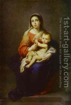 Virgin And Child 1670 by Bartolome Esteban Murillo - Reproduction Oil Painting