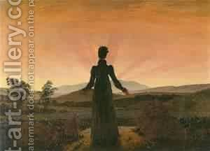 The Stream 1890 2 by Caspar David Friedrich - Reproduction Oil Painting