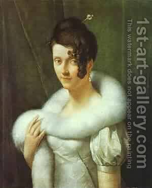 Portrait Of A Woman 1810 by Baron Francois Gerard - Reproduction Oil Painting