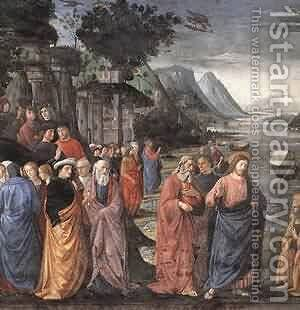 Calling Of The First Apostles (Detail) 1481 by Domenico Ghirlandaio - Reproduction Oil Painting