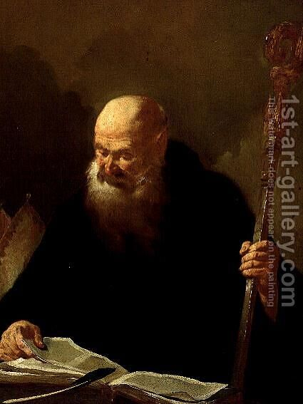 St Benedict by Giovanni Battista Piazzetta - Reproduction Oil Painting