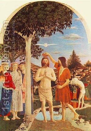 Baptism Of Christ 1448-50 by Henri Pierre Picou - Reproduction Oil Painting