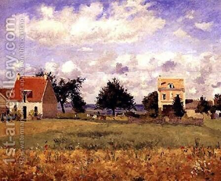 Houses by Camille Pissarro - Reproduction Oil Painting