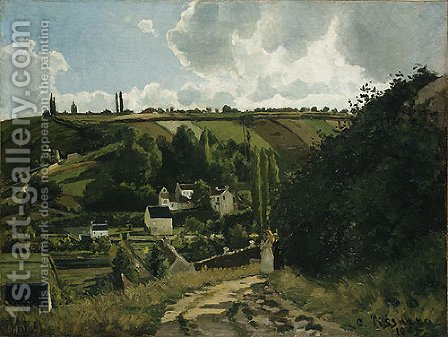 Jalais Hill Pontoise 1867 by Camille Pissarro - Reproduction Oil Painting