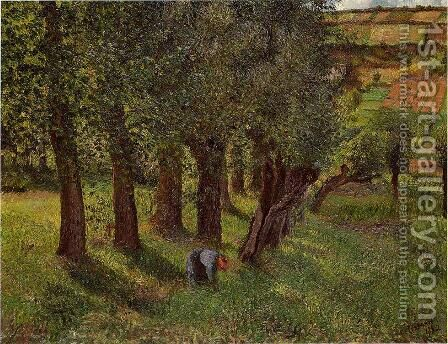 Le Chou a Pontoise (aka La Moussiere)  1882 by Camille Pissarro - Reproduction Oil Painting